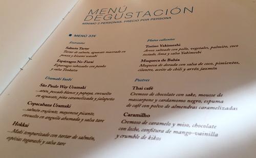 Restaurant ikebana barcelona chezuli for Ikibana menu barcelona